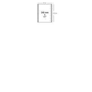 Carton 750 feuilles papier listing 50g 240mmx11   vierge autocopiant