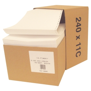 CARTON 2500 FEUILLES LISTING LYRECO 60G 240MMX11   VIERGE