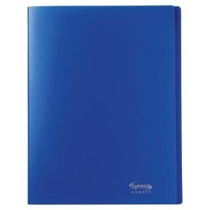 Reliure souple Lyreco budget 20 pochettes 40 vues bleu nuit