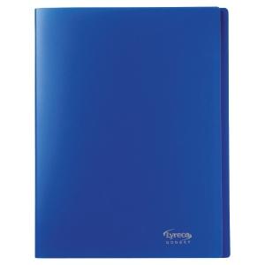 Reliure souple Lyreco budget 30 pochettes 60 vues bleu nuit