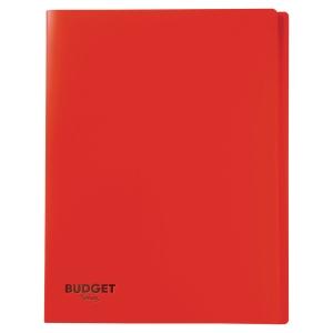 Reliure souple Lyreco budget 20 pochettes 40 vues rouge
