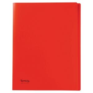 Reliure souple Lyreco budget 40 pochettes 80 vues rouge