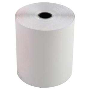 Lot 10 bobines papier thermique 2 plis 55g 76x70x12 blanc/jaune