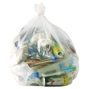 Carton 250 sacs poubelles transparents 110l 36 microns 700x1100