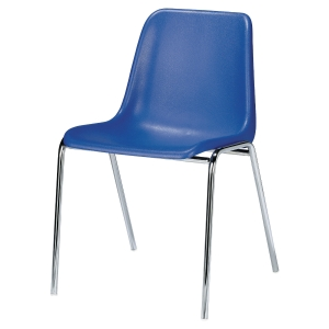 SIEGE VICENZA EMPILABLE EN POLYPROPYLENE MOULE ANTISTATIQUE BLEU
