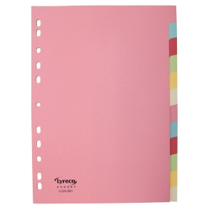 Intercalaire Lyreco Budget - coloris assortis pastel - 12 touches