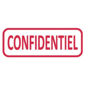 Tampon encrage auto formule confidentiel