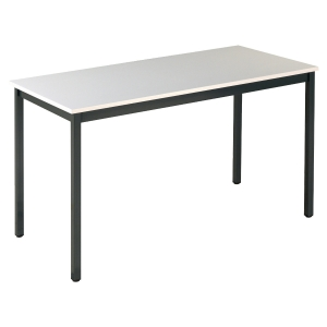 TABLE DE CONFERENCE BURONOMIC RECTANGLE 120 X 60 CM GRIS
