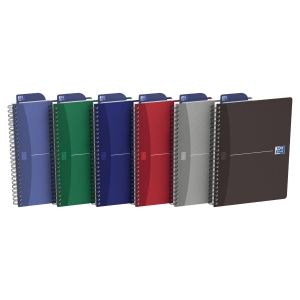 CAHIER OXFORD OFFICE   THE ESSENTIALS   A5 180 PAGES SEYES COUVERTURE PELLICULEE