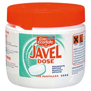 Boite de 156 pastilles eau ecarlate javel dose