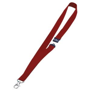 Lacet textile avec fermeture de sécurité coloris rouge