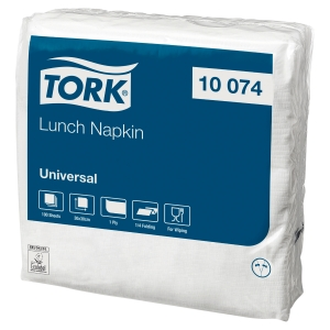 Serviettes Tork Lunch Universal Couleur Blanc 10074