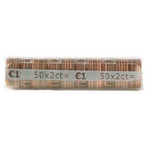Etui à monnaie transparent - 2 centimes d euro - paquet de 250