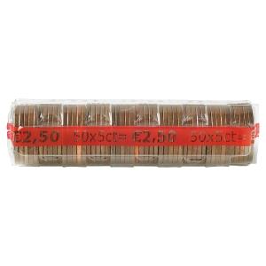 Paquet de 250 etuis a monnaie PVC transparent reutilisables 5 centimes d euro