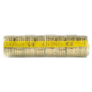 Paquet de 250 etuis a monnaie PVC transparent reutilisables 20 centimes d euro