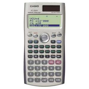 CALCULATRICE FINANCIERE CASIO FC-200V 10+2 CHIFFRES
