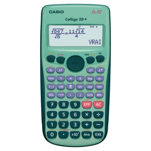 CALCULATRICE SCIENTIFIQUE CASIO FX92 SPECIALE COLLEGE