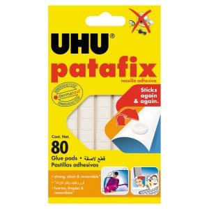 Etui 80 pastilles adhésives patafix uhu blanche