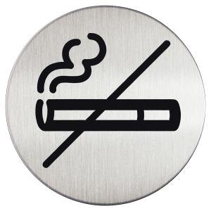 Pictogramme zone non fumeur Durable métal rond ø 83 mm 4911