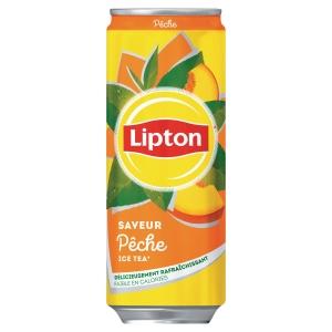 Lipton Ice tea pêche 33 cl - plateau de 24 canettes