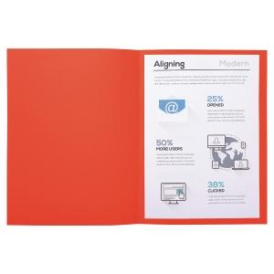 Chemise carte recyclée Exacompta Forever - rouge - paquet de 100