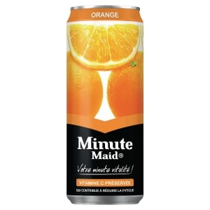 Plateau de 24 boites de 33cl de jus d orange minute maid