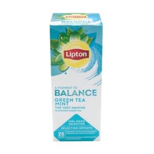 Boite de 25 sachets lipton the vert menthe
