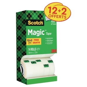 Tour distributrice value pack Scotch magic 14 rouleaux dont 2 offerts