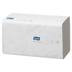 Carton 15 paquets de 250 essuie-mains Tork confort pour distributeur H3