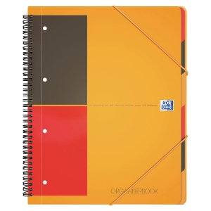 ORGANISERBOOK OXFORD A4+ 160 PAGES PERFOREES 4 TROUS LIGNE 6MM
