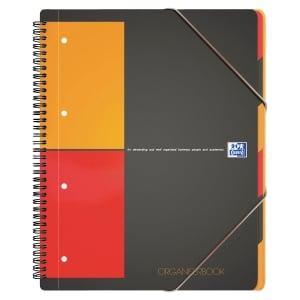 ORGANISERBOOK OXFORD INTERNATIONAL A4+ 160 PAGES PERFOREES QUADRILLE 5X5