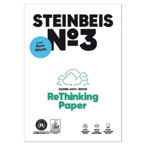 Steinbeis Pure White recycled paper A3 80g - 1 box = 5 reams of 500 sheets