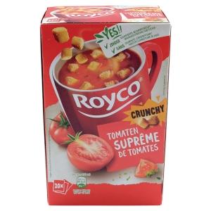 Boite de 20 sachets de soupes royco tomates et croutons