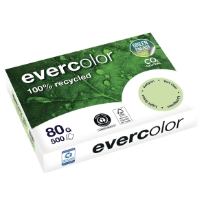 Papier recyclé couleur A4 Evercolor - 80 g - vert clair - ramette 500 feuilles