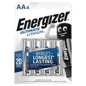 Pile Energizer Ultimate Lithium AA/LR06 - pack de 4