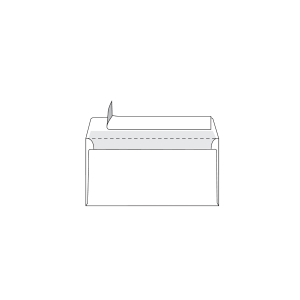 Boite 500 enveloppes precasees code postal dl Lyreco 80g nf siliconee blanc