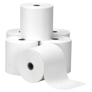 Boite 5 bobines de caisse 1 pli papier thermique 55g 80x60x12mm