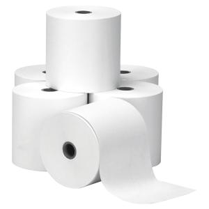 Boite 10 bobines cartes bancaires 57x30x12 1 pli papier thermique blanc