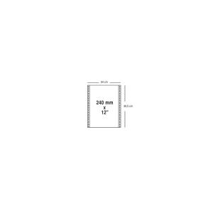 Carton 1250 feuilles listing 50g 240mmx12   blanc/rose autocopiant