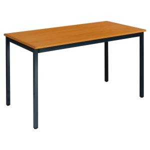 Table rectangulaire Buronomic - 120 x 60 cm - merisier