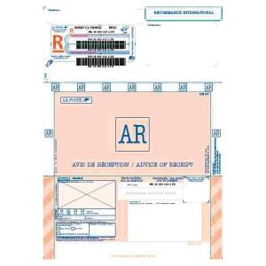 Boite 250 imprimes recommandes internationaux avec accuse reception