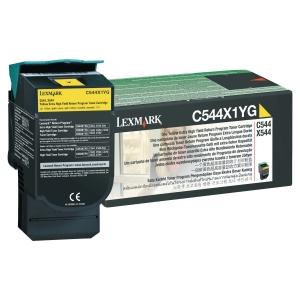 CARTOUCHE LASER LEXMARK C544/X544 TRES HAUTE CAPACITE JAUNE C544X1YG