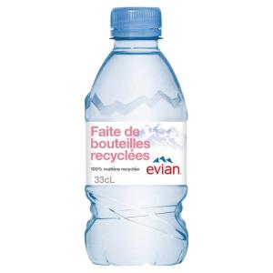 Plateau de 24 bouteilles d eau evian 33 cl