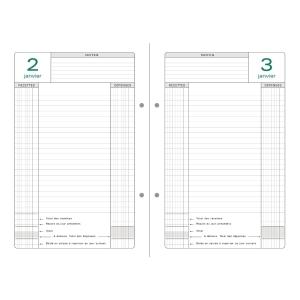 Recharge agenda perpetuel de caisse Exacompta 24 x 16cm 38978