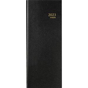 Agenda banque 2 volume format long 15 x 34 cm couverture noire