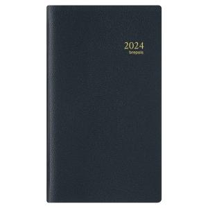 Agenda de poche notaplan 702 couverture noire 9 x 16 cm