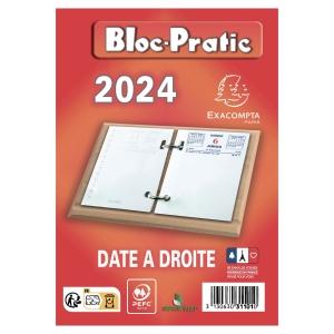 BLOC PRATIC EXACOMPTA 372 FEUILLETS DATE A DROITE