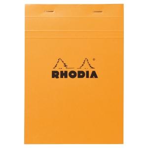 BLOC RHODIA AGRAFE EN-TETE 80G 80 FEUILLES A5 QUADRILLE 5X5