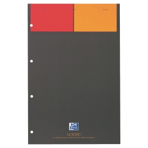 BLOC NOTEPAD OXFORD PERFORE A4+ 001 INTERNATIONAL 80G 80 FEUILLES QUADRILLE 5X5