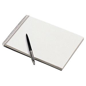 Bloc steno reliure integrale A5 60g 180 pages uni